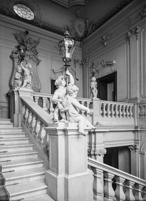"""""""Englische Treppe"""" Foto von 1930 (Eigentümer SLUB, Deutsche Fotothek)"""