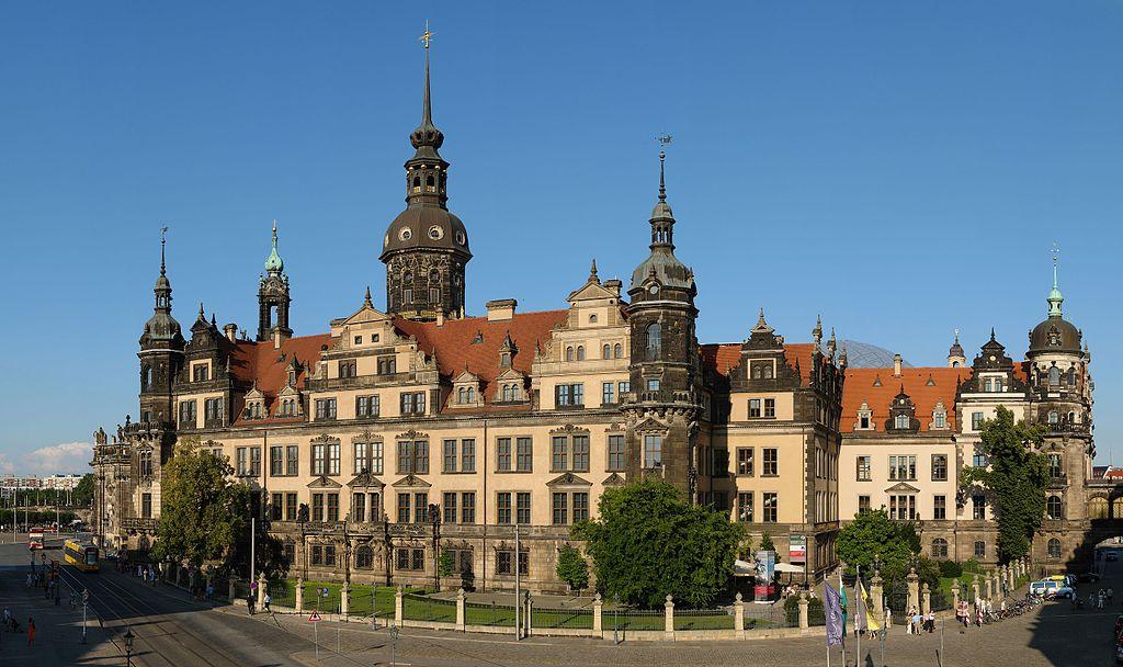 Westflügel des Dresdner Residenzschlsses - heutiger Zustand