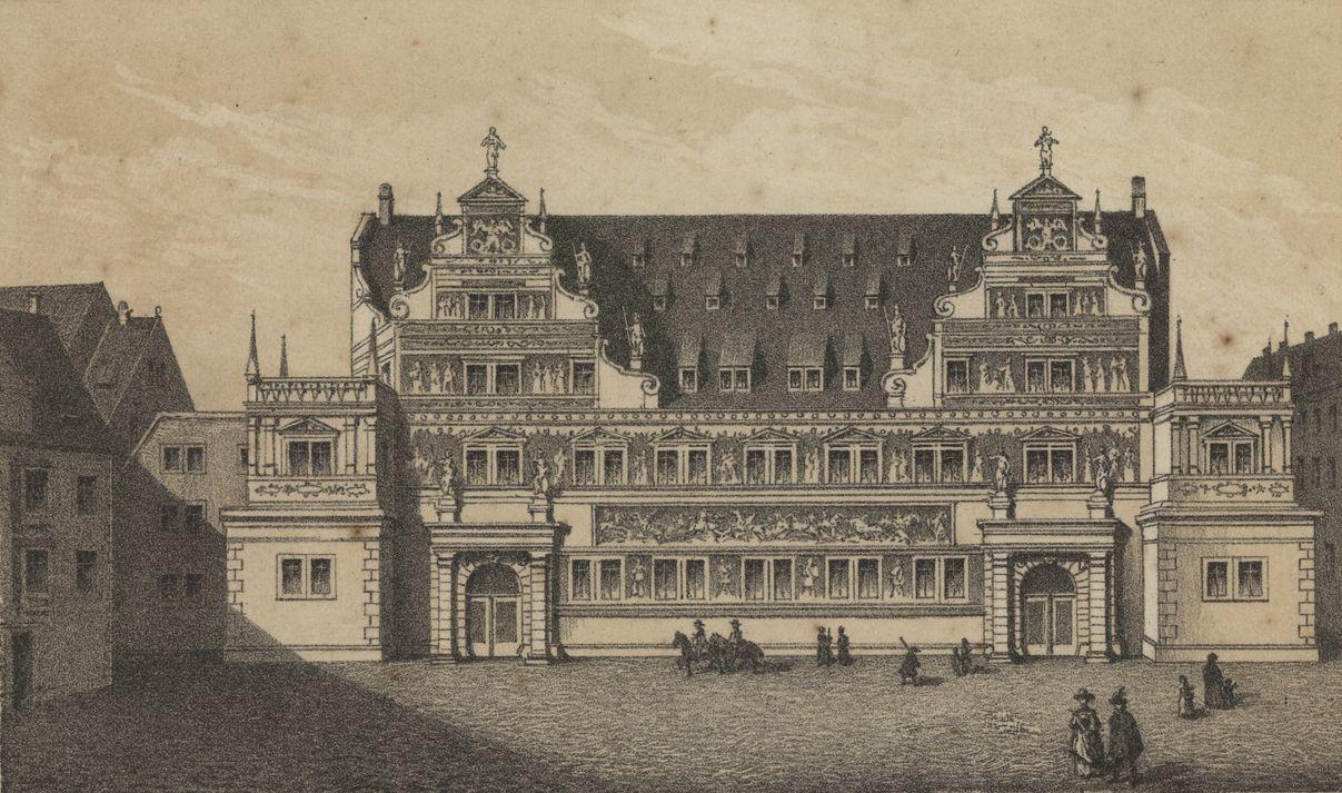 Stallgebäude im Jahr 1680