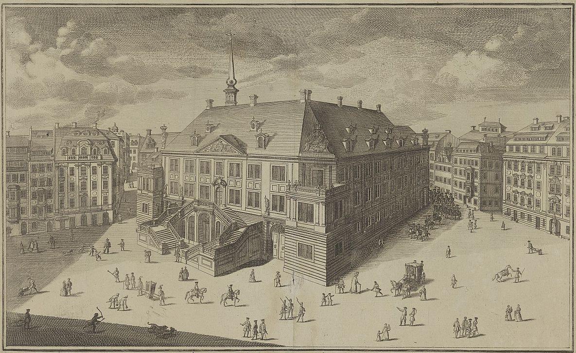 Stallgebäude im Jahr 1744