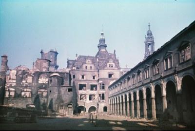 Blick vom Stallhof nach 1945