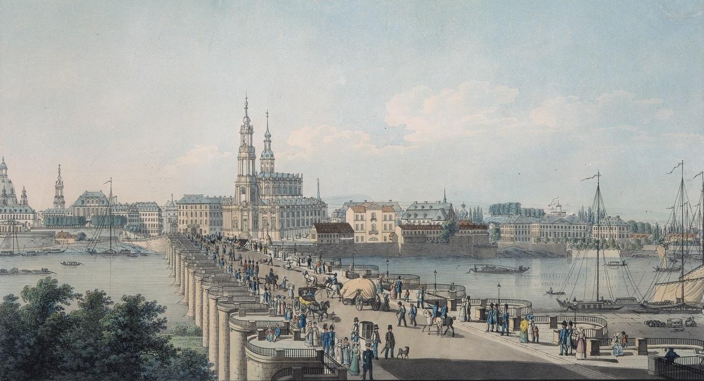 Ausschnitt aus einer Radierung von Carl Täubert, um 1820-30