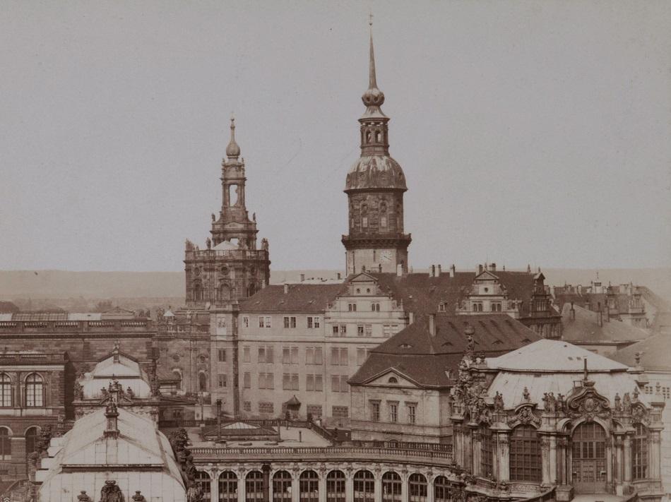 Der Westflügel im 19. Jahrhundert vor dem Umbau
