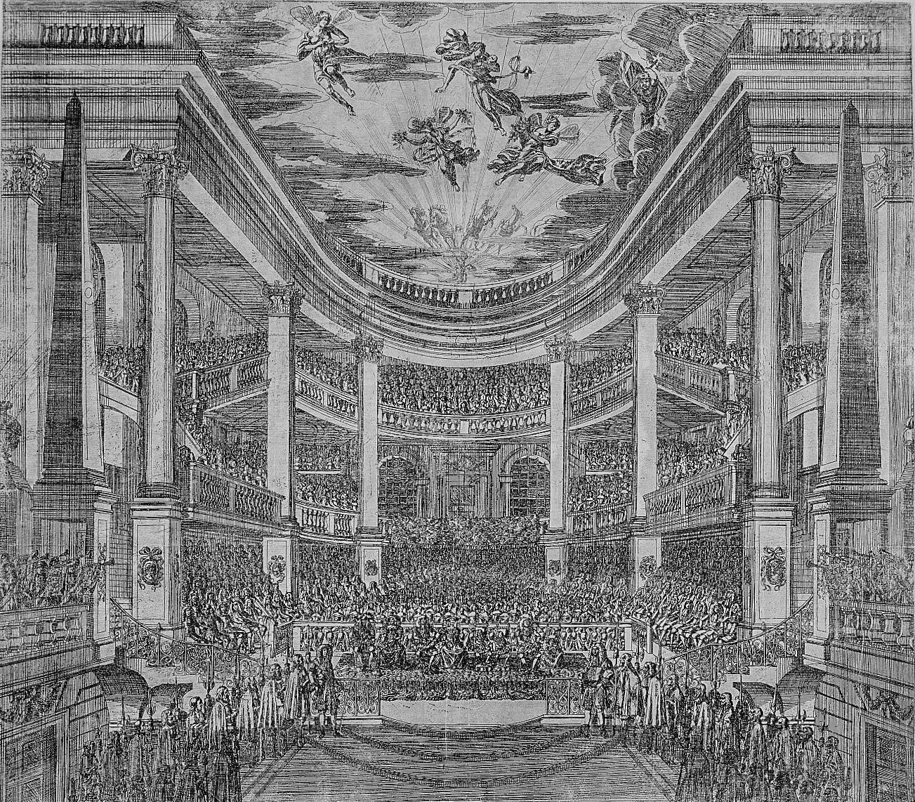 Das Komödienhaus von 1667 nach dem Entwurf von Wolf Kaspar von Klengel