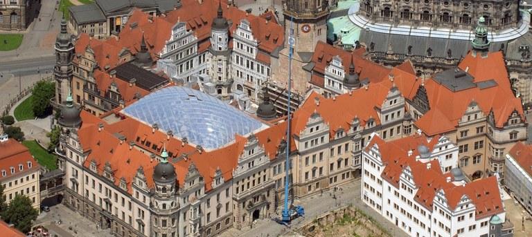 Blick auf das Dresdner Schloß